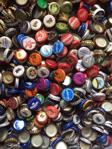 1250 Beer Bottle Caps Free Ship Craft Supply Diy Beads Mosaic Vase Filler Lot