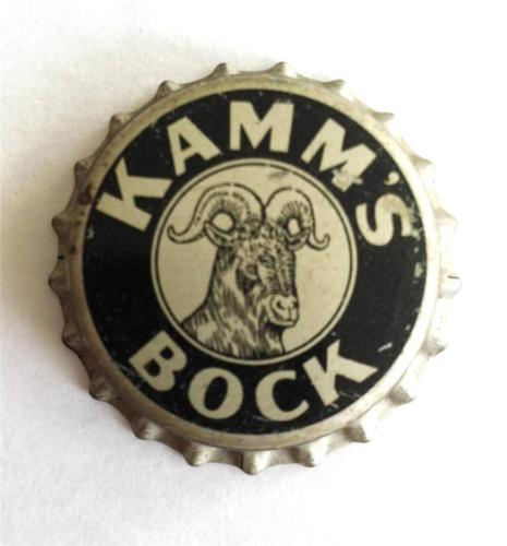 Kamm's Bock Beer Vintage Unused Cork Lined Crown Cap Mishawaka, Indiana