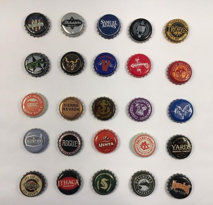 Beer Bottle Caps Lot of 25 All Different Brewery (6)