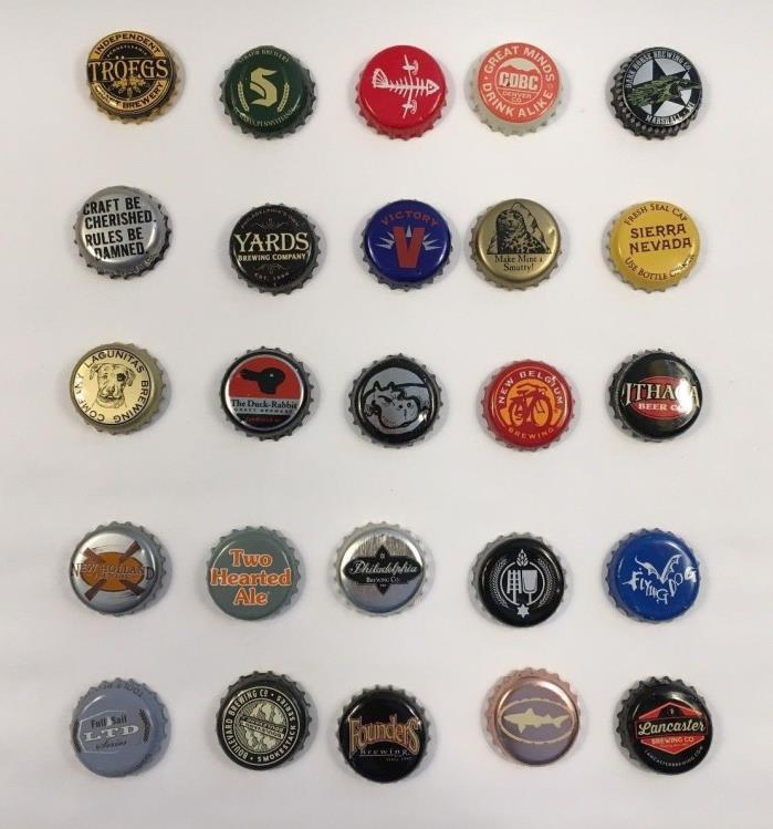 Beer Bottle Caps Lot of 25 All Different Brewery (5)
