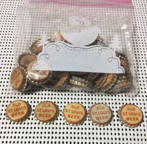 Vintage Old St. Louis Beer Crowns Uncrimped With New Cork  Pkg 50  Free Shipping