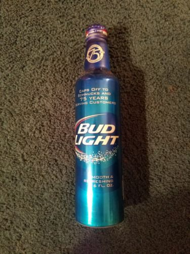 ST LOUIS SCHNUCKS MARKET 75TH BUD LIGHT ALUMINUM BEER BOTTLE CAN BY BUDWEISER