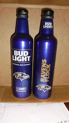 1 BUD LIGHT ALUMINUM BOTTLE 2017 KICK OFF   RAVENS
