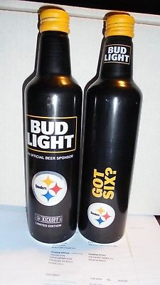 1 BUD LIGHT ALUMINUM BOTTLE 2017 KICK OFF   STEELERS