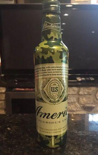 Budweiser America Camouflage Aluminum Bottle (empty)
