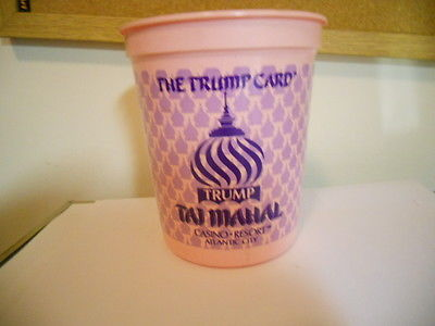 The Trump Card TAJ MAHAL Casino Resort Coin Chip Token Cup Bucket Slot Machine