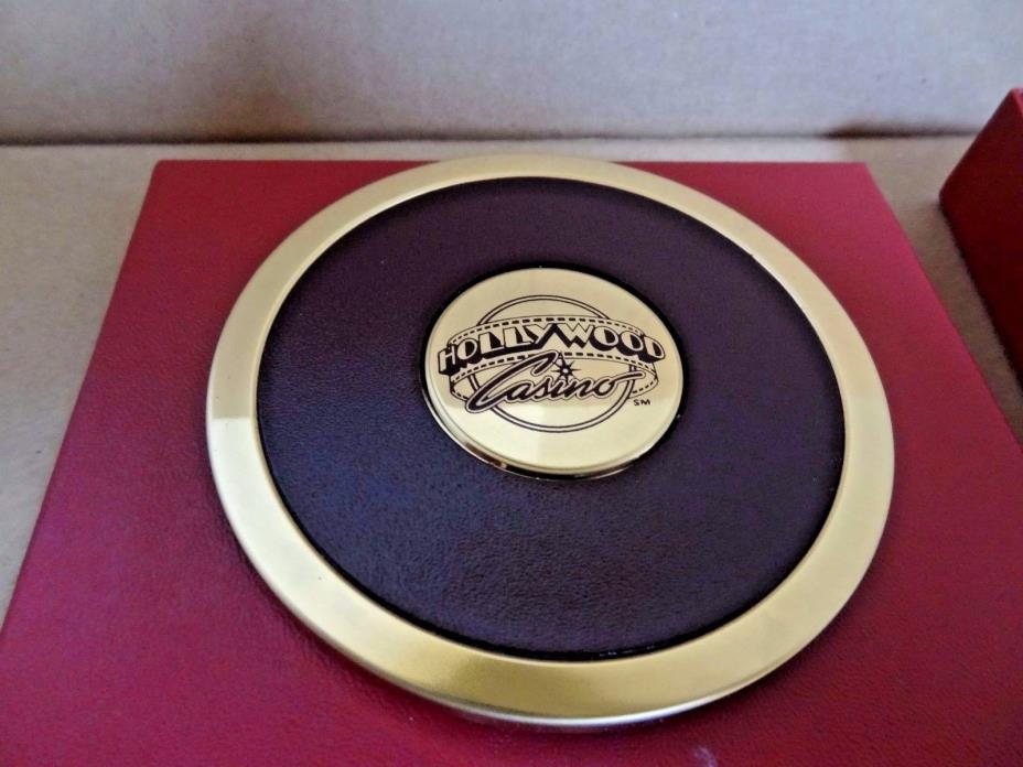 SET OF 4 - HOLLYWOOD CASINO LAS VEGAS DRINK COASTER - SEE DESCRIPTION