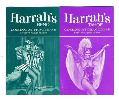 HARRAH's Coming Attractions Brochure 1969 Reno & Lake Tahoe Nevada Sammy Davis