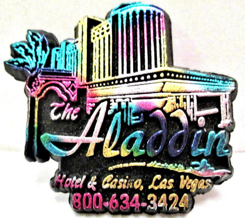Vintage Collectible, Souvenir Aladdin Hotel & Casino Rubber Fridge Magnet Vegas