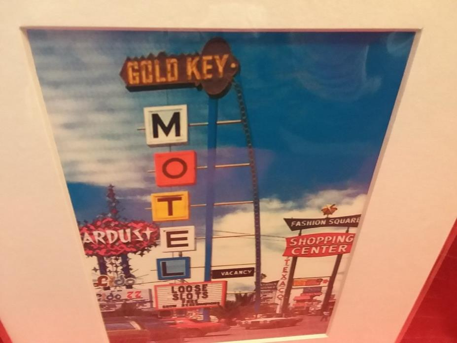 *****GOLD KEY MOTEL***** (HAD GAMING)  LAS VEGAS,NV  *****prem.matted print*****