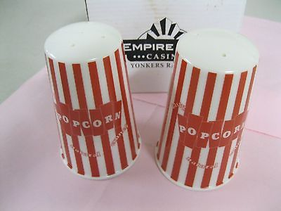 EMPIRE CITY CASINO NY YONKERS RACEWAY SALT & PEPPER SHAKERS~POPCORN STYLE BOX