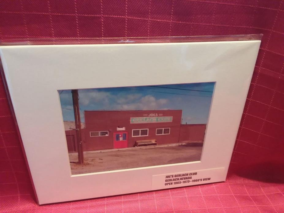 *****JOE'S GERLACH CLUB***** (HAD GAMING)  GERLACH,NV   ***prem.matted print***