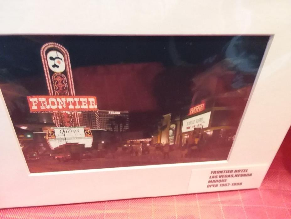 *****FRONTIER HOTEL-CASINO*****  (MARQUE)  LAS VEGAS,NV  ***prem.matted print***