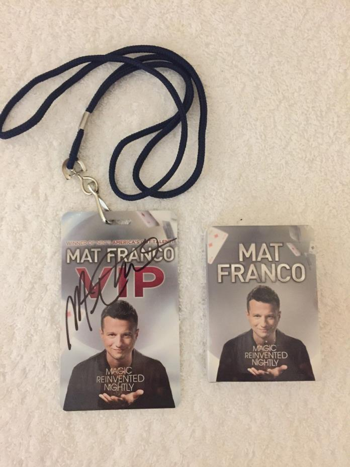 MAT FRANCO - PLAYING CARD ( AUTOGRAPH ) & VIP ( AUTOGRAPH ) BADGE