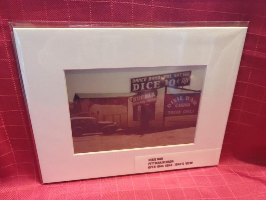 1940's *****DIXIE CLUB***** PITTMAN,NV    (10 CENT DICE) ***prem.matted print***