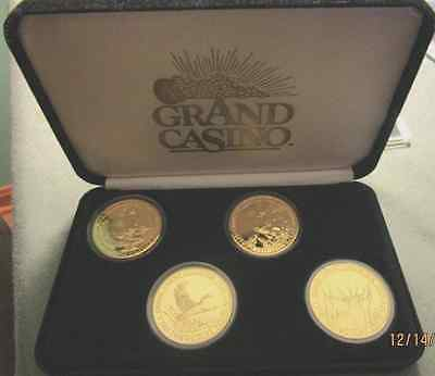4 GRAND CASINO MINNESOTA WILDLIFE SERIES IV COLLECTOR COINS 1997-1998