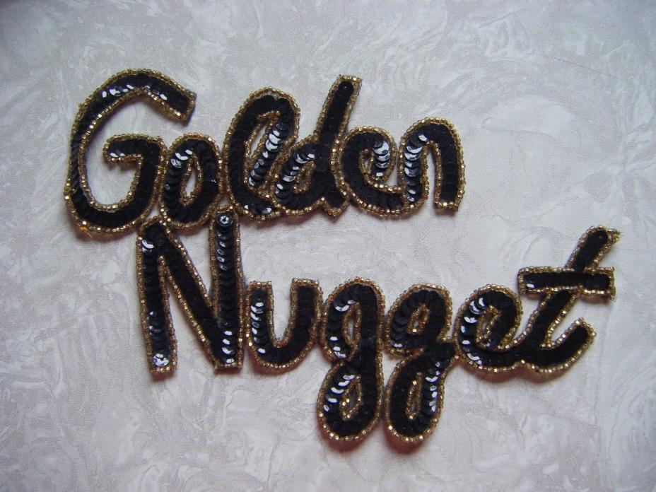 Vintage Golden Nugget Las Vegas Casino Embroidered 5