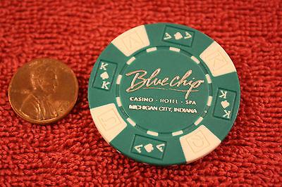 Blue Chip Hotel/Casino/Spa poker chip fridge magnet...