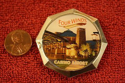 Four Winds Casino Resort New Buffalo, Michigan fridge magnet...