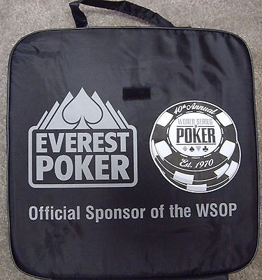 SEAT CUSHION FROM THE 2009 WORLD SERIES OF POKER, WSOP, UNUSED