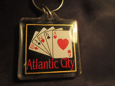 Atlantic City Key Chain Vintage Playing Cards