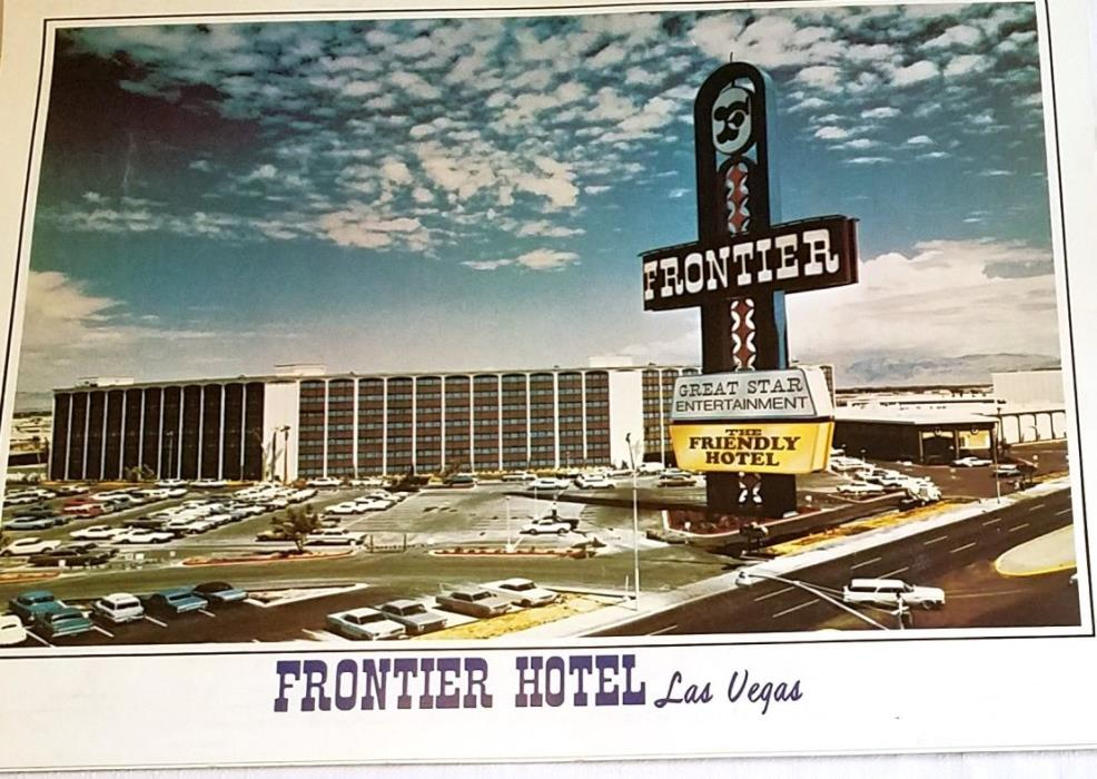 Vintage Frontier Hotel Photo Holder Pamphlet (empty)