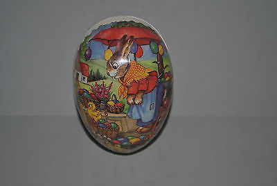 Vintage Rabbit Easter Egg  Candy Container Made in Germany