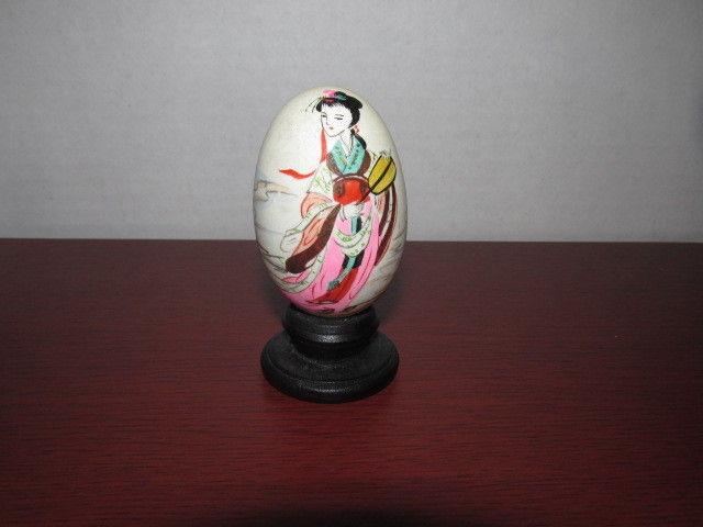 Vintage Oriental hand painted egg