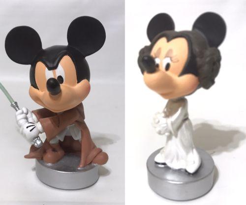 Disney World 2007 Star Wars Weekend BOBBLEHEAD Mickey Luke Minnie Leia LE
