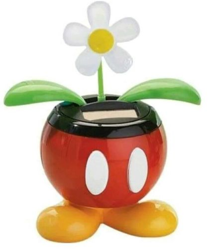 New in Package Disney Solar Dancing Flower bobble head Mickey Mouse