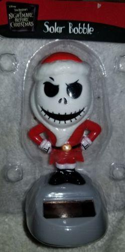 Disney Nightmare Before Christmas Jack Solar Bobble Head Figure New