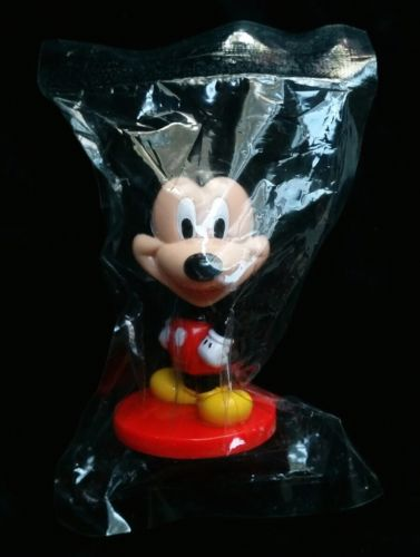 Promo Toy Mickey Mouse Bobble Head New in Plastic Package Disney Kellogg Cereal