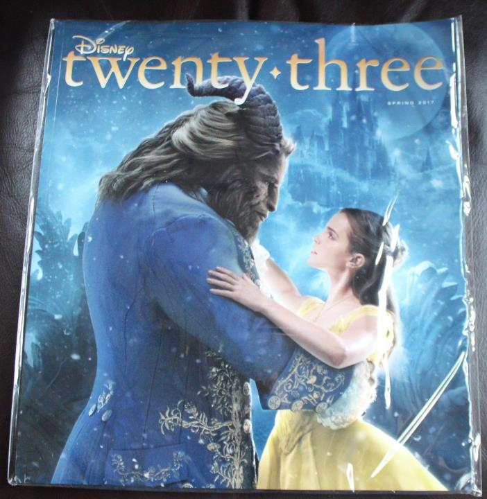 NEW Disney D23 Book Magazine SPRING 2017 Beauty And The Beast - Sealed NIP