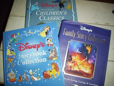 LOT OF 3 HARD COVER DISNEY STORYBOOKS - COLLECTION & CLASSICS