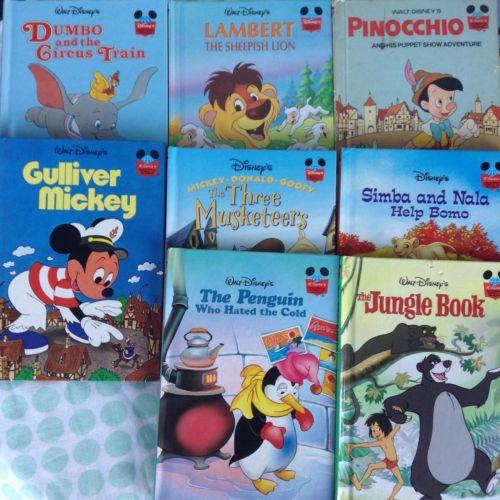 Disney's Wonderful World Of Reading Book Lot of 8 Pinocchio Dumbo Jungle Book