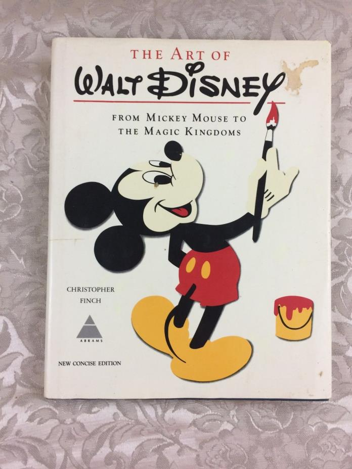 THE ART OF WALT DISNEY 1975 Large Hard Cover Book Fold-Outs Concise Edition
