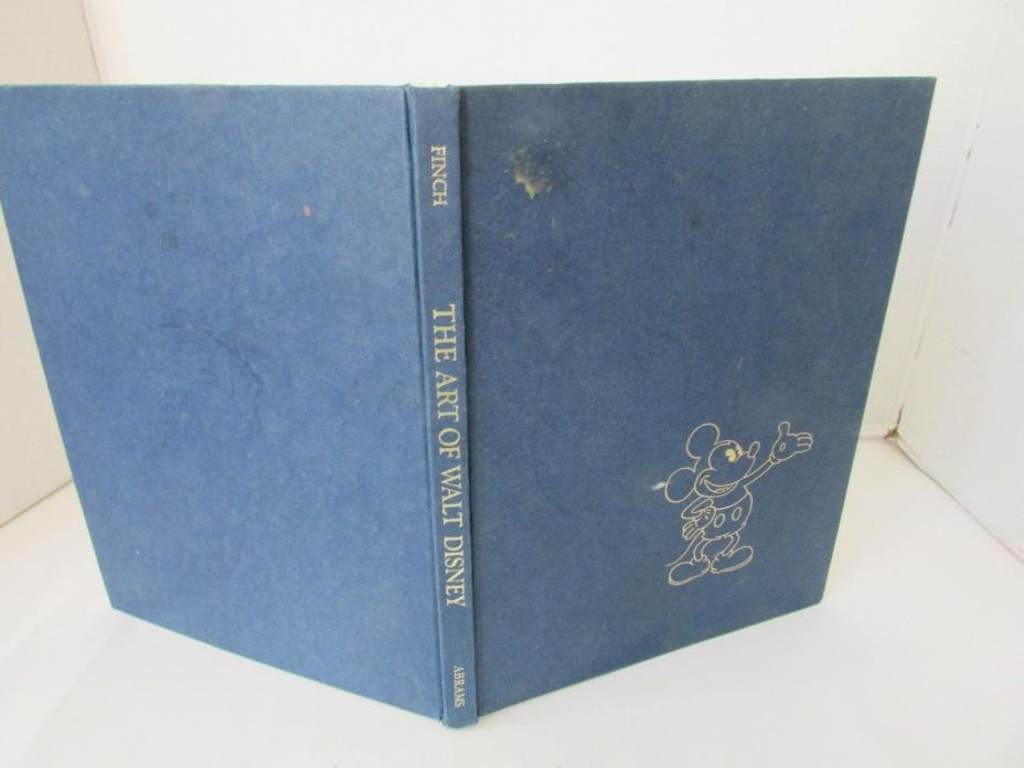 THE ART OF WALT DISNEY HARDCOVER COFFEE TABLE BOOK 1975 BY CHRISTOPER FINCH L183