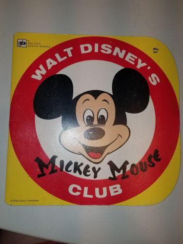 Walt Disney's Mickey Mouse Club - A Golden Shape Book - 1978 4th Printing - Used