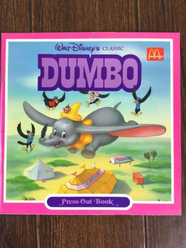 Vintage 1987 DUMBO Press-Out Book (McDonald's Exclusive)