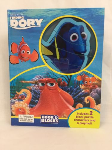 Disney Pixar Finding Dory Book & Blocks Children's Board Book AGES 3+ Puzzle