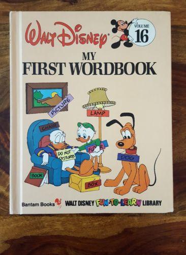 Walt Disney Bantam book - My first wordbook(Volume 16)(1984)