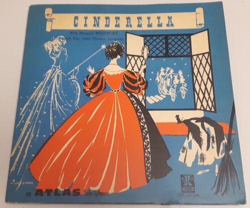 RARE Vintage Cinderella Album Book Set Atlas Tale-Spinner