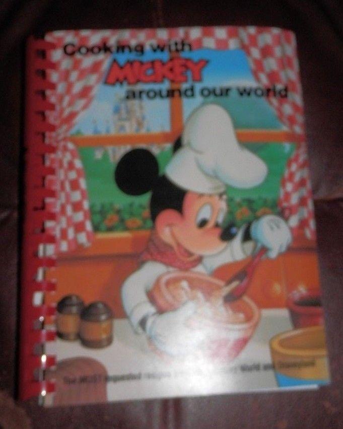 Vintage Cooking with Mickey Cookbook Walt Disney World Disneyland NICE