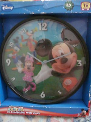 Disney Clubhouse Mickey Mouse 3D Lenticular wall clock