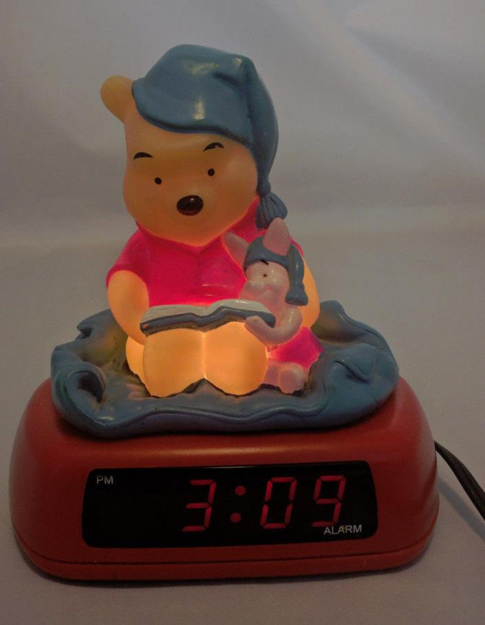 Disney Winnie the Pooh and Piglet Night Light Alarm Clock Digital Clock