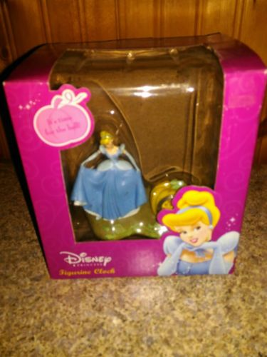 Cinderella Desk Clock Disney princess figurine It's time for the Ball! NEW!
