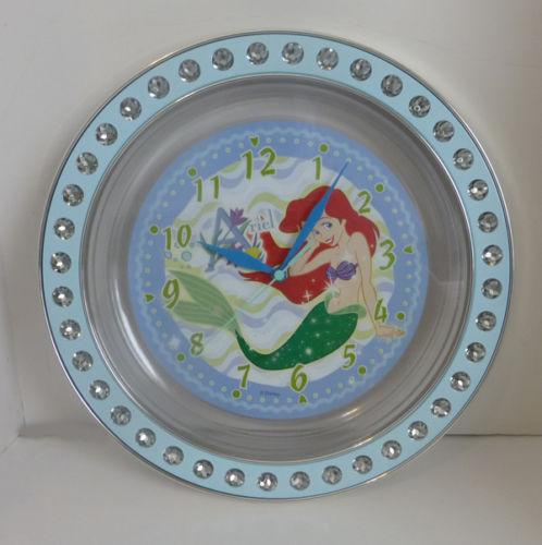 Japan Disney Little Mermaid Princess Ariel Name Sparkle Wall Clock