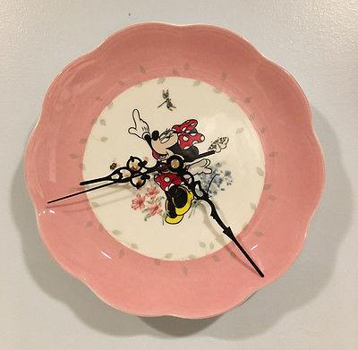 Disney Lenox Pink Spring Garden Minnie Mouse Plate Wall Clock NEW  1