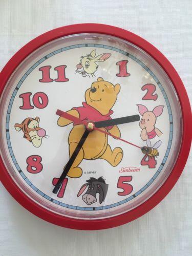 Vintage Winnie The Pooh Sunbeam Wall Clock