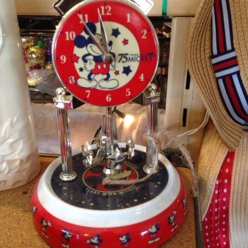 Mickey Mouse Disney Collectible Clock 75th gift